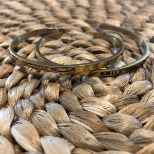 MantraBand Jewelry - MantraBand Gold Bangle Infinite Love SMILE